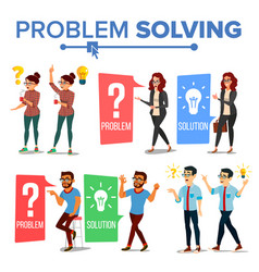 problem solving concept thinking man and vector image
