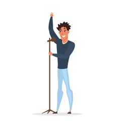 professional singer concert flat vector image