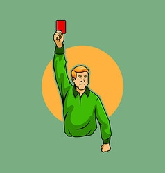 Referee Raise Red Card vector