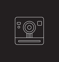 retro camera icon vintage photography vector image