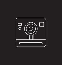 Retro camera icon vintage photography vector