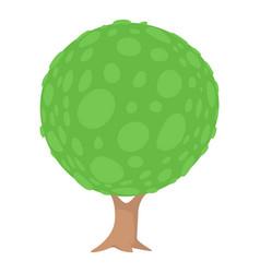 round tree icon cartoon style vector image