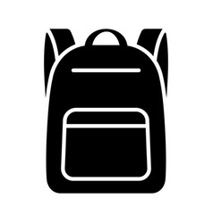Schoolbag or school bag backpack icon vector