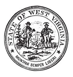seal state west virginia 1904 vintage vector image
