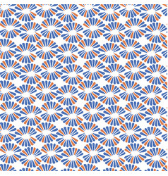 Seamless pattern with retro red and blue vector