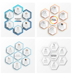 Set infographics 6 options template for brochure vector