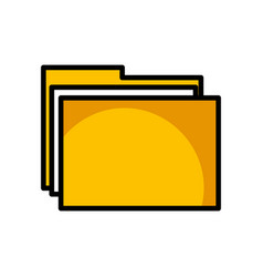 shadow folder cartoon vector image