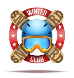 Ski club or team badges and labels vector image