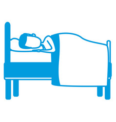 Sleeping in bed vector