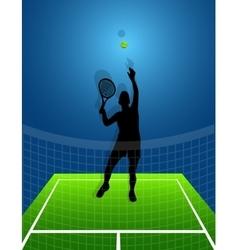 Sport background tennis man vector