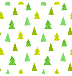 spruces seamless pattern hand drawn vector image vector image