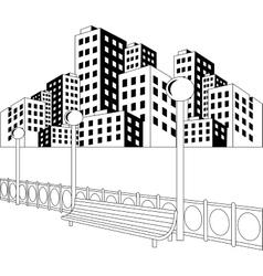 Street in city vector