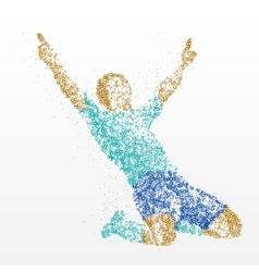 Success finish winner athlete abstraction vector
