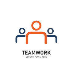 teamwork logo concept three abstract vector image