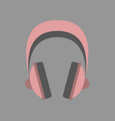 Technology gadget in flat design headphones vector