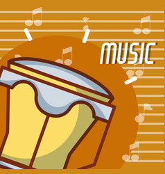 Timbal music instrument vector