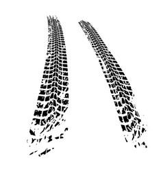 Tire tracks elements vector