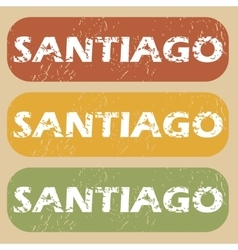 Vintage santiago stamp set vector