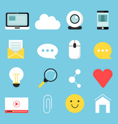 web icons set various symbols for blogging and vector image