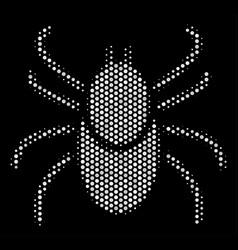 white pixelated mite tick icon vector image