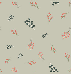 Winter florals nature pattern abstract blue vector