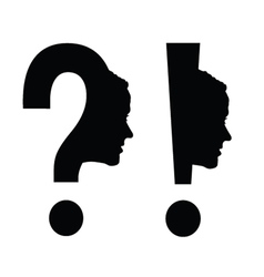 Woman head with question mark vector
