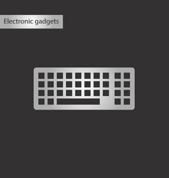 black and white style icon computer keyboard vector image