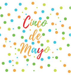 greeting card of the cinco de mayo day vector image