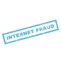 Internet Fraud Rubber Stamp vector image vector image