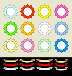 Multicolored stars and banners vector image vector image