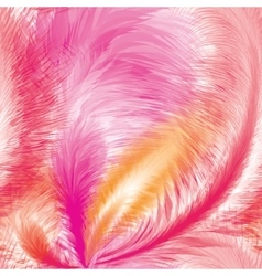 Pink Feathers Seamless Pattern vector image