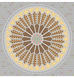 rose window vector image vector image