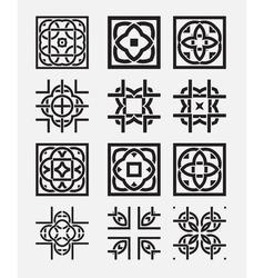Tile element tribal celtic knot vector image