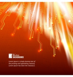 Abstract orange lights background vector image vector image