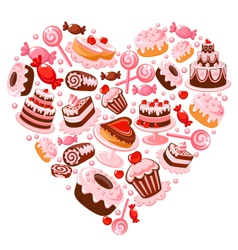 Candy heart vector image vector image