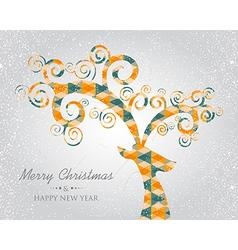 Christmas trendy abstract deer head vector image vector image