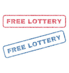 Free lottery textile stamps vector