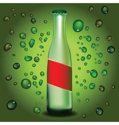 green bottle vector image vector image