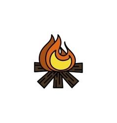 Hunting icon Bonfire vector image vector image