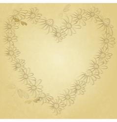 Old valentine paper vector image