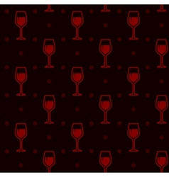 seamless background with wineglasses vector image vector image
