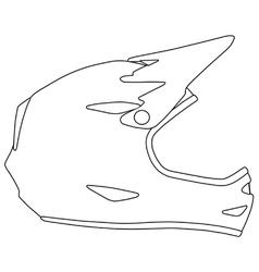 Downhill mountain biking full face helmet vector image vector image