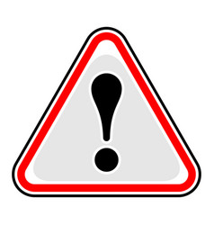 exclamation point warning attention hazard sign vector image vector image