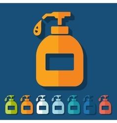 Flat design liquid soap vector