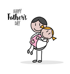 happy fathers day hand on white background vector image vector image