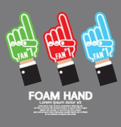 Set Of Foam Hand vector image