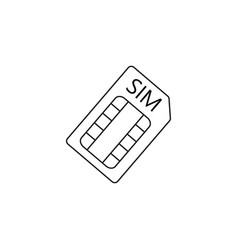 sim card line icon outline logo vector image vector image