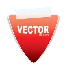 triangle paper tag vector image vector image