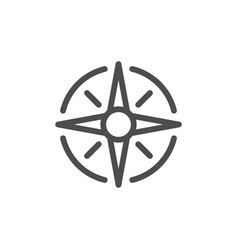 wind rose line icon vector image