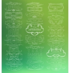 Abstract thin line design vector image vector image